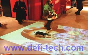 Magic interactive floor advertising system,for interactive advertising, projection show(China (Mainland))