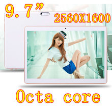 9.7 inch 8 core Octa Cores 2560X1600 IPS DDR 4GB ram 32GB 8.0MP 3G Dual sim card Wcdma+GSM Tablet PC Tablets PCS Android4.4 7 9(China (Mainland))