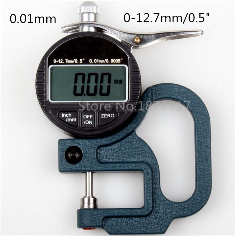 Digital Thickness Gauge 0-10mm 0.01mm thickness tester meter paper film leather thickness measuring tool