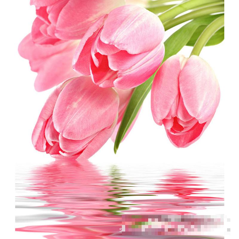 Water Tulip Diamond Embroidered Diy Resin Full Drill Manufacturers Selling Agent Support On Behalf Of(China (Mainland))