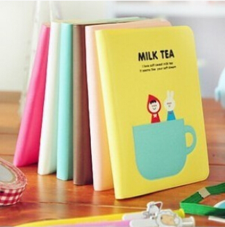 Mini Cute Kawaii Cartoon Notebook MILK TEA Lined Paper Notepad Diary Book for Kids Students Korean Stationery Free shipping 177<br><br>Aliexpress