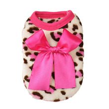 Buy Pet leopard bow vest dog clothes puppy clothing coat small funny costumes for $1.47 in AliExpress store