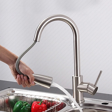 Kitchen drawer full of copper wire drawing faucet basin faucet hot and cold vegetables from spring flowers multifunction shower<br><br>Aliexpress