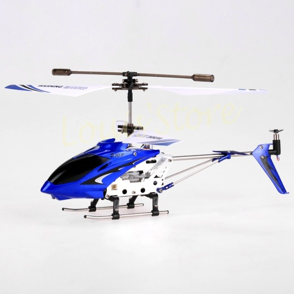 Simple Box Package! New Syma Metal 3CH RC Helicopter,Remote Control Helicopter,Gyro Toy +2*Main Blades+ Tail Blade Blue 53(China (Mainland))
