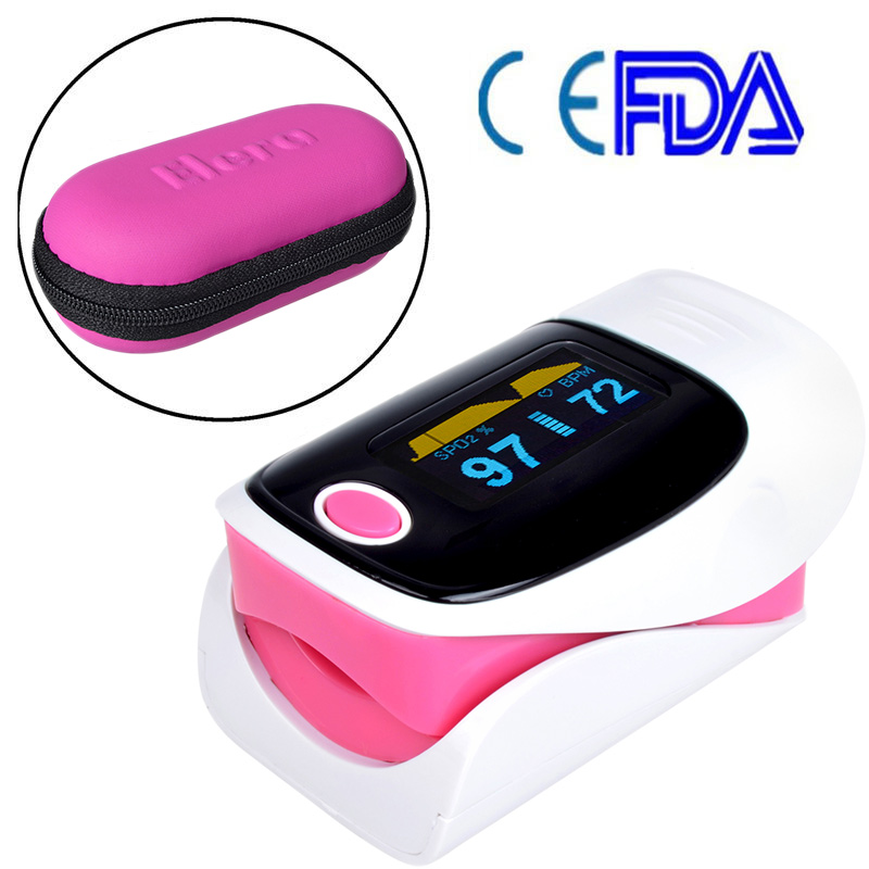 CE FDA Digital Finger Oximeter,Pulsioximetro Blood oximetro Pulse Rate Heart Rate Monitor,Fingertip Pulse Oximeter With Pouch(China (Mainland))