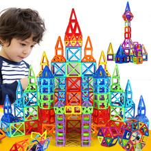 164pcs-64pcs Mini Magnetic Designer Construction Set Model & Building Toy Plastic Magnetic Blocks Educational Toys For Kids Gift(China (Mainland))
