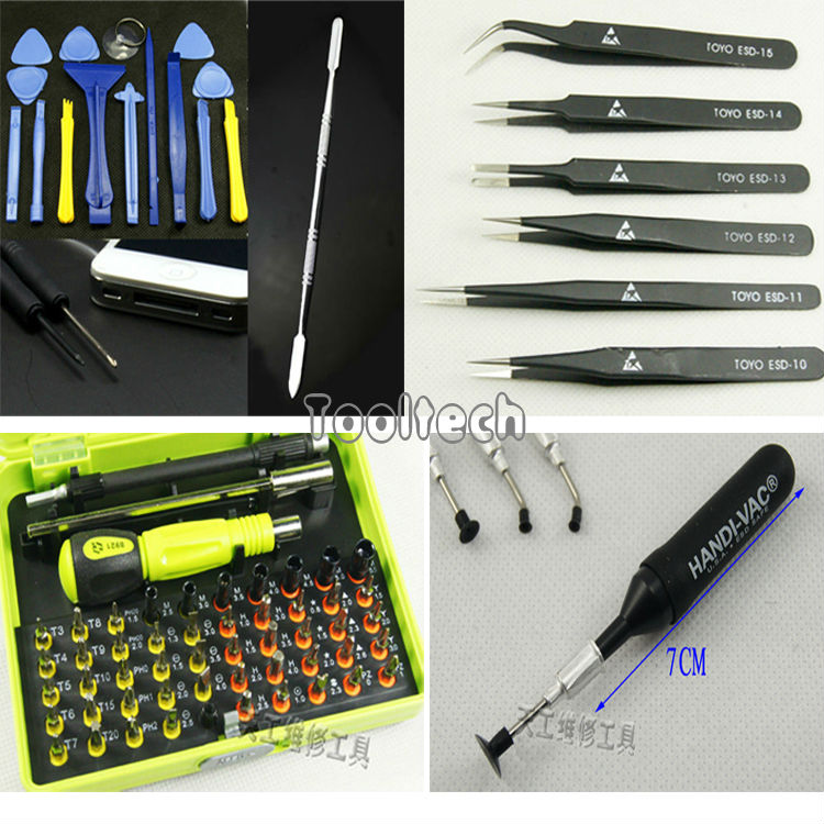 Free shipping hot 81 in1 Screwdrivers Set + Opening Pry Tools + Tweezers kit + Vacuum Sucker Pen Repairing Tools for iPhone iPad(China (Mainland))