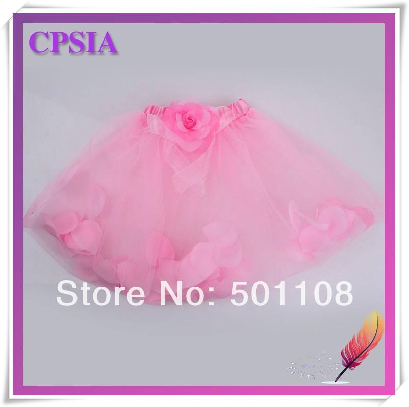 stylish baby skirt girl petal filled tutus baby skirt 2014 new design tutu skirt many colors(China (Mainland))