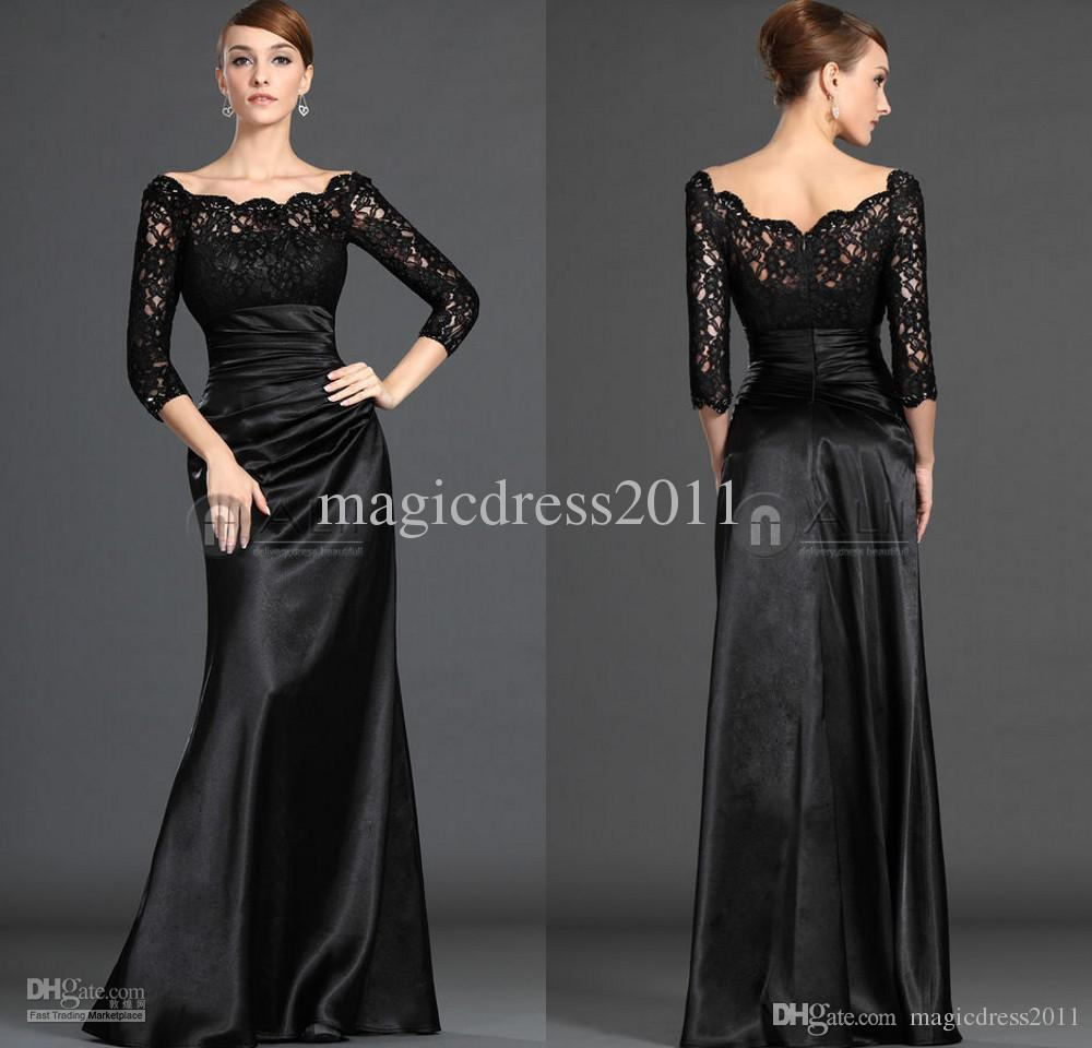 Black Lace Long Sleeve Mother of the Bride Dresses  Dress images