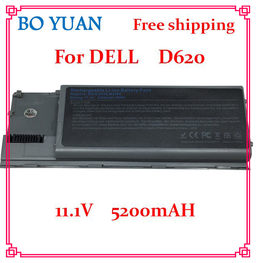 6 Cells 5200mAh Laptop Battery Replacement for Dell Latitude D620 D630/631 JD775 JY366 KD489 KD491 KD492 KD494 KD495 NT379 PC764(China (Mainland))