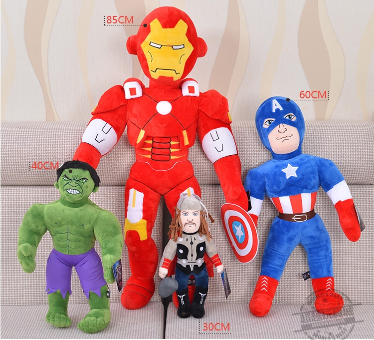 30CM Avengers Captain America Doll Plush Toy Boy Hot Sale Staffed Toys Free Shipping CY-01(China (Mainland))