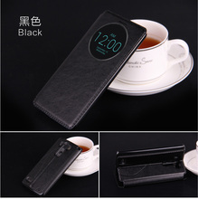 luxury original case for lg g3 d855 d850 by fashion pu leather holster quick circle view phone flip window retro stand bag cover