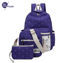 RoyaDong 2016 Women Backpack School Bags For Teenagers Girls Rucksack Outdoor Backpacks Set Mochila Printing Bookbag Cute Canvas(China (Mainland))