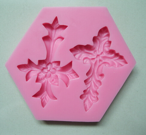 Cake Tool 1pc pink Cross Religious Holy Communion Christening Silicone Mold Sugarcraft Mould Fondant Tools Bakeware Chocolate - CHEN'S MART Retail & No.1 Store store