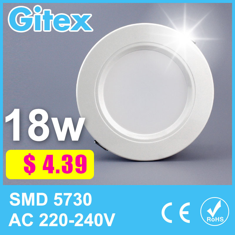1 Piece Led Downlight 3w 5w 6w 7w 9w 12w 15w 18w Led Ceiling Led Lamp Led Downlight Round Panel Light Home Indoor Lighting(China (Mainland))