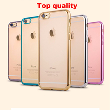 Buy Luxury Glitter Silicone Case iPhone 7 / 7 Plus Transparent Tpu Cover Coque Fundas iPhone 7 plus cases shell 5 5s SE 6 6s for $1.33 in AliExpress store
