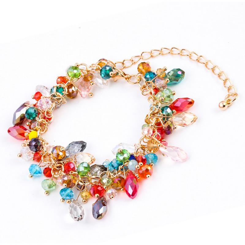 2015 NEW Fashion Design Girl Jewelry Handmade Crystal Rhinestone Bracelets Women Charm Bangle Wholesale Free Shipping BPY020(China (Mainland))