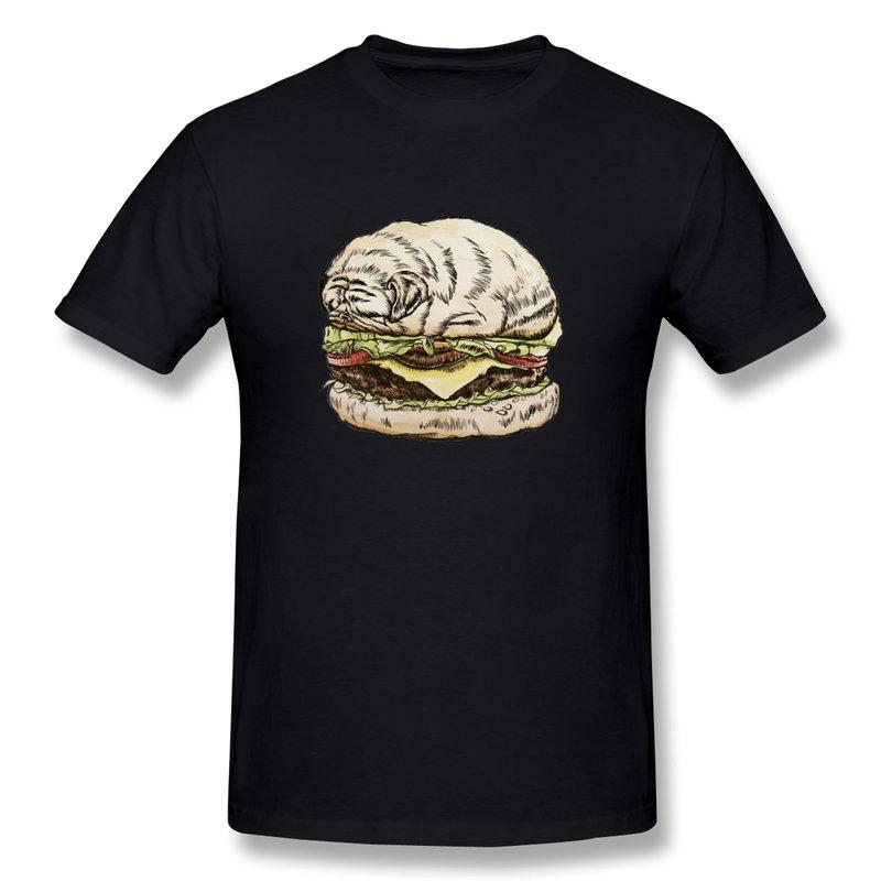 Casual t shirt boy pug burger make own cool photo men t for Make a photo t shirt