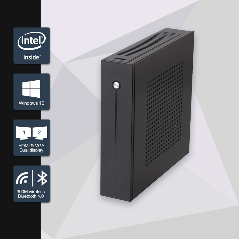 2016 New Celeron j1900 mini pc quad core fanless pc with VGA HDMI for 2 lan port 6 com support window 10/ windows 7/Linux/Ubuntu(China (Mainland))