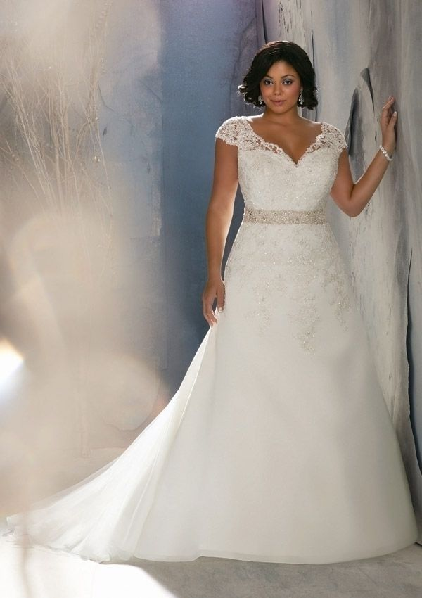 plus size 2014 a line organza strapless wedding dress