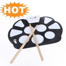 New Professional Roll up Drum Pad Kit Silicon Foldable with Stick Portable Drum Electronic Drum USB Drum(China (Mainland))