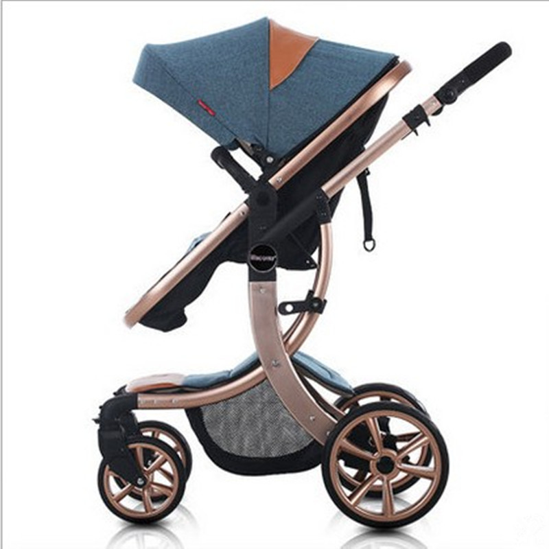 free shipping Hot Fashion Baby Stroller 7 Colors Choosing Kids Stroller For 0 3 Years Aluminum