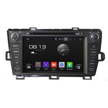 HD 1024*600 Quad Core 16GB Android 5.1.1 Car DVD Player Radio GPS Navi Stereo for Toyota PRIUS Right Driving 2009 2010 2011-2015