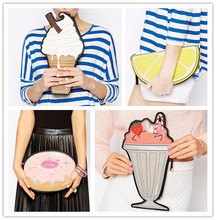 Wholesale PU Women Leather Ice Lolly Handbags Unique Clutch Purses And Hand bags New Look Design