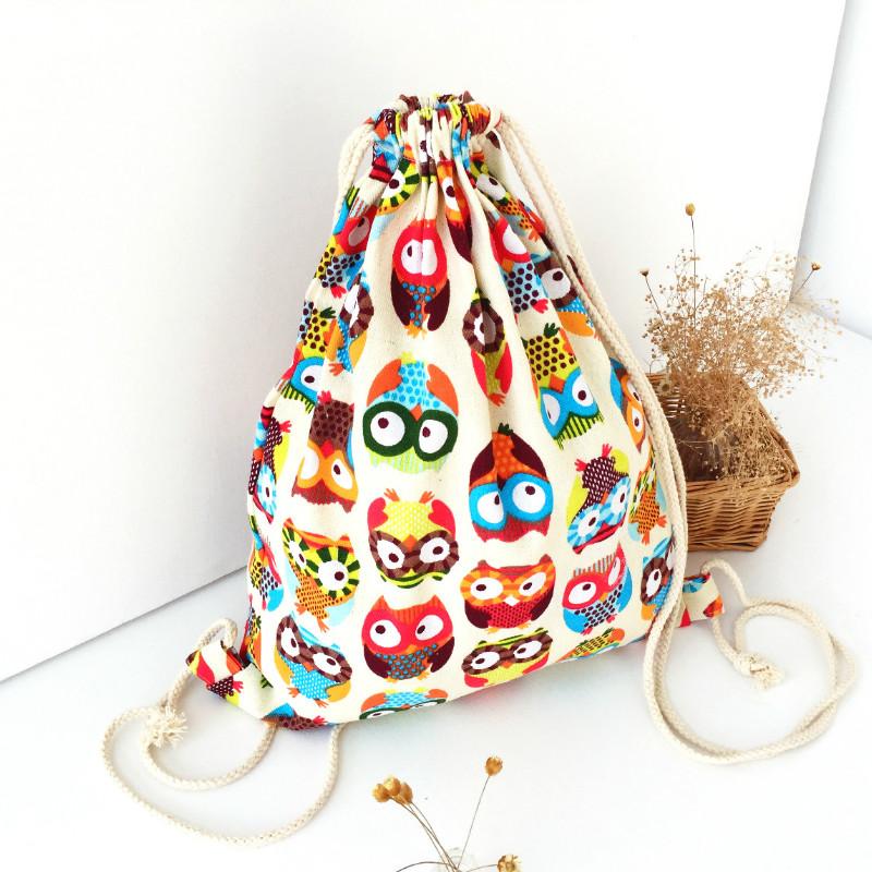 Cute Owl Canvas Backpack Children Travelling Bags School Original Colorful Printed Cloth Bag Fashion Rucksack Beach Backpacks<br><br>Aliexpress