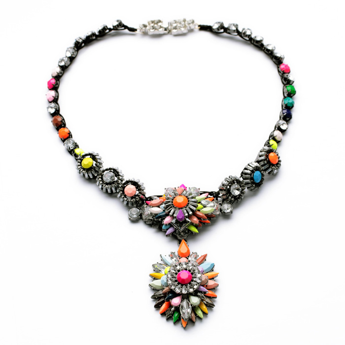 colorful jewelry of the most popular glass copper shiny