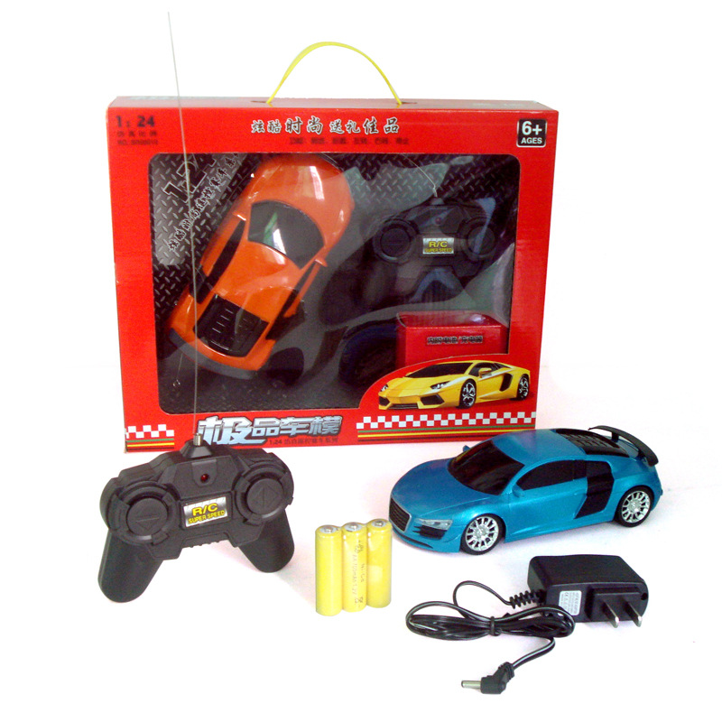 Free shipping 1:24 Hot toys rechargeable remote control car child toy(China (Mainland))