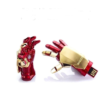 100% real capacity Hot sale The avengers Iron Man Right hand USB Flash Drive 4GB 8GB 16GB 32GB 64GB Pen Drive Gift memory stick