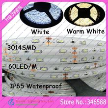 Buy 5M/Roll 300LEDs Super Bright 3014SMD DC12V 60led/m Flexible LED Strip IP65 Epoxy Resin Waterproof, white/warm white Color for $6.38 in AliExpress store