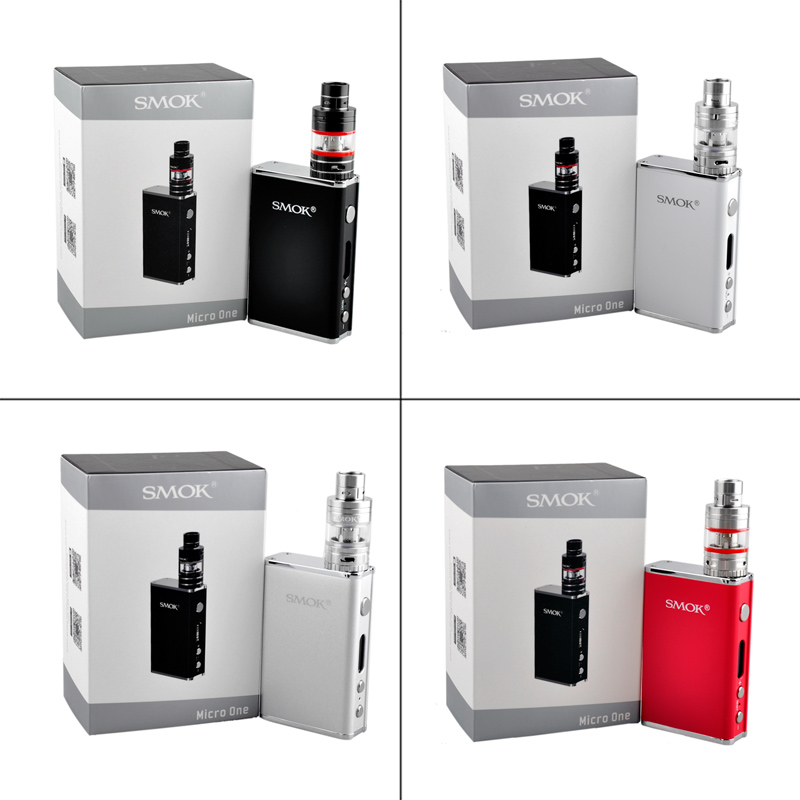 100% Original Smok Micro One Starter Kit R80 80W 4400mah TC Box Mod with TFV4 Tank<br><br>Aliexpress