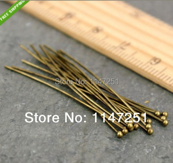 Wholesale High Quality Antique Bronze Ball Pins Headpins 20mm Headpins Ball,1000pcs/lot Jewelry DIY Material Free Shipping<br><br>Aliexpress