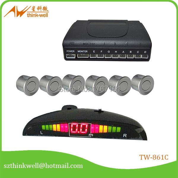spy reverse car parking sensor kit silver(China (Mainland))