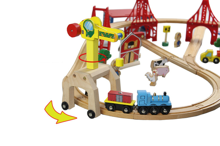 Thomas and Friends --2PCS Thomas Wooden Train Track Railway Accessories --Move Crane and One Tender(China (Mainland))