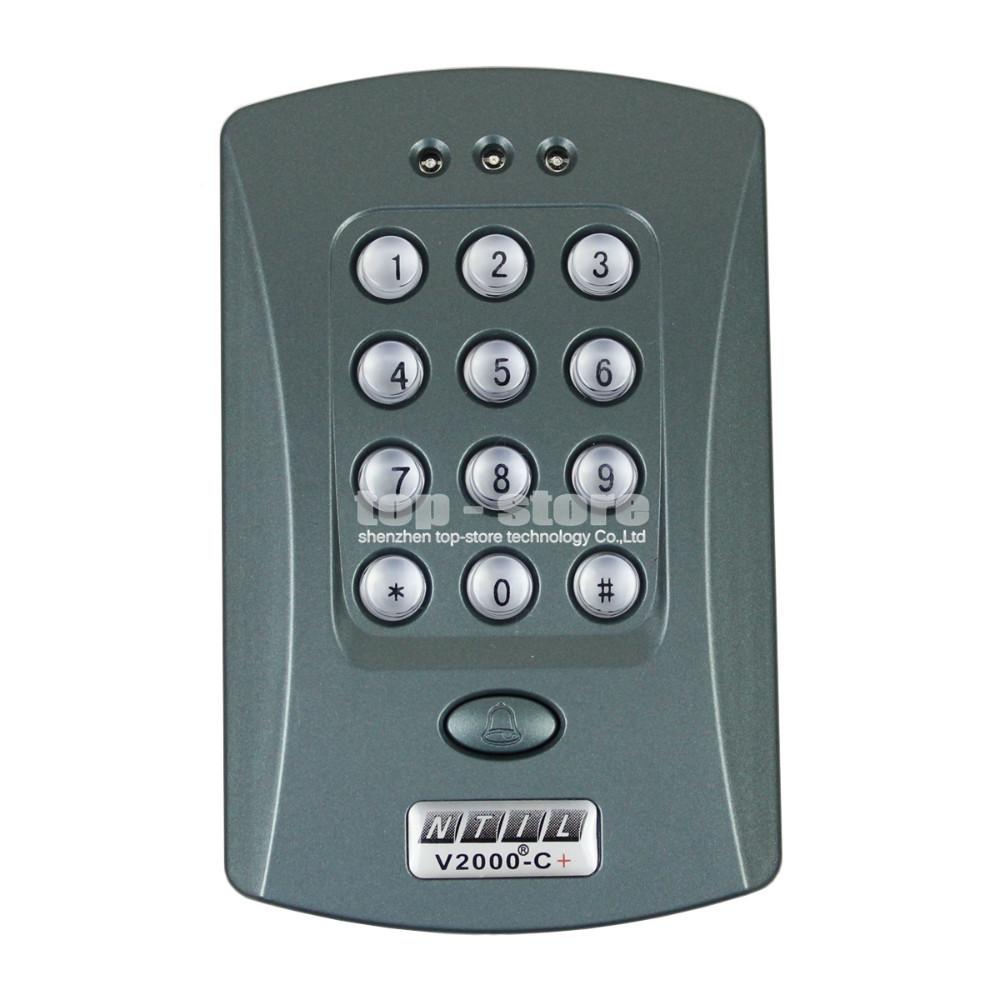 125KHz Door RFID Keypad Proximity Reader Access Controller System + 10 Free Key Fobs Brand NEW(China (Mainland))