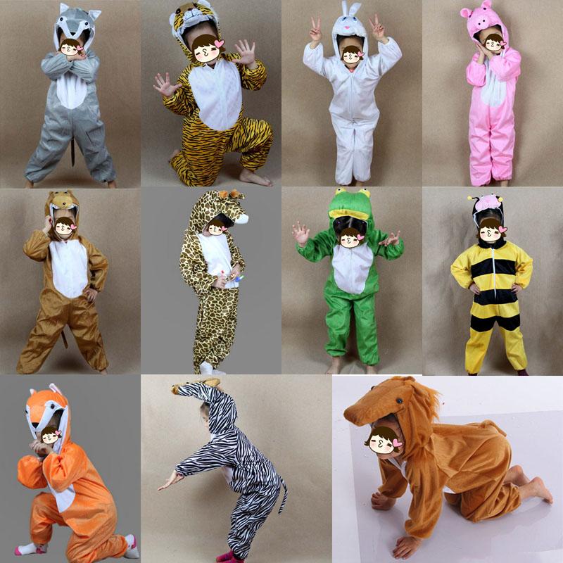 Children Various Animal Costume for Kids Rabbit Pig Tiger Fox Wolf Horse Anime Cosplay Jumpsuits Hallowmas Costume Boy GirlsОдежда и ак�е��уары<br><br><br>Aliexpress