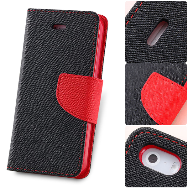 5S/5C Magnetic Flip Leather Case For IPhone 5 5S 5C Wallet Pouch Card Holder Duel Color Mobile Phone Capa Shell Bags With Logo(China (Mainland))