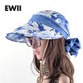 2017 Adjustable sun visor caps women summer wide brim hat ladies beach bucket hats for women