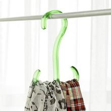 Wardrobe Plastic Double Hooks Coat Clothes Hat Scarf Ties Hanger Rack(China (Mainland))