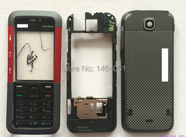 wholesale 10pcs replacement mobile phone full housing for NOKIA 5310XM, Cover for NOKIA 5310XM(China (Mainland))