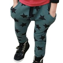 Toddler Boys Cotton Long Pants Stars Pattern Casual Pants Bottoms 6M-4Y 2 Colors(China (Mainland))