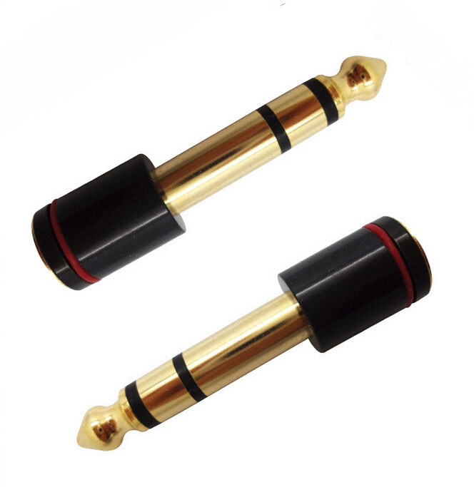New 2015 4pcs 6.35mm Male Plug To 3.5mm Mono Female Jack Audio Adapter 45mm Free Shipping<br><br>Aliexpress