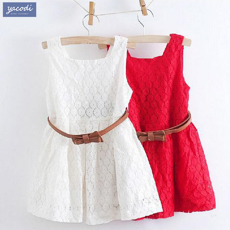 Girls font b dresses b font summer 2016 children clothes girls beautiful lace font b dress