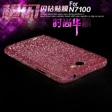 Luxury Colorful Ultrathin Scrub Sticker Case Bling Cover Carcasa Silver Gold Coque Funda Capa For Samsung Galaxy Note 2 N7100(China (Mainland))
