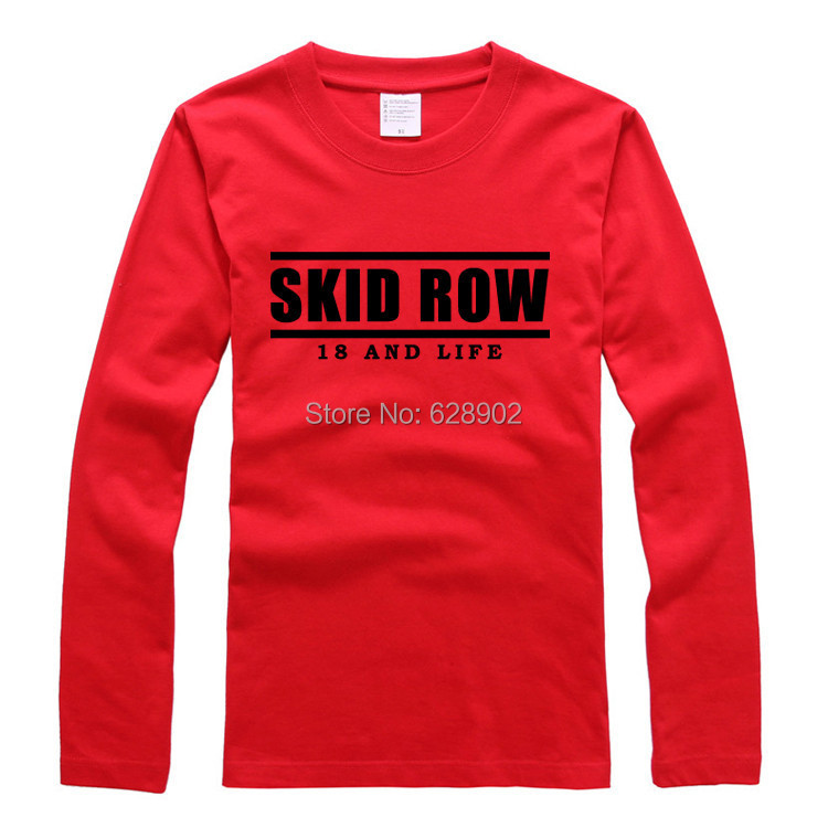 18 and life Skid Row T-shirt Bottoming shirt new spring and autumn T-shirt Primer shirt Pure color long sleeve(China (Mainland))