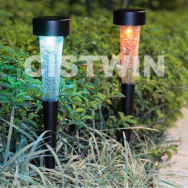 Color changing garden Solar LED Light, garden docoration Solar Lamp, Solar LED Lawn Light 2pcs/set(China (Mainland))