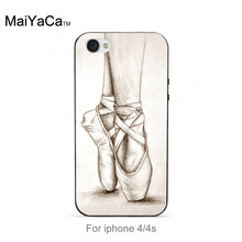 Ballet Shoes dancing girl New Arrival Fashion phone case cover For iPhone 5 5s 6s 7 plus case(China (Mainland))